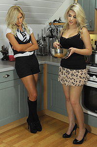 Busty Blondes Cooking