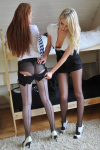 Danielle And Jade Victoria Tease As They Strip Off Their Tight Uniforms - Picture 4