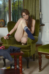Samantha Slip Out Of Her Small Gym Skirt Polo Shirt And Pretty Lingerie - Picture 14