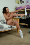 Emma Kate Gets Naked From Cute Gym Kit - Picture 8