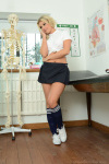 Amy Slowly Slips Off Her Cute Gym Clothes Leaving Her Completely Nude - Picture 3