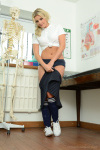 Amy Slowly Slips Off Her Cute Gym Clothes Leaving Her Completely Nude - Picture 4