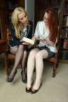 Sophia Slips Off Frankas Outfit Pantyhose Lingerie Completely Nude Embarrassed - Picture 3