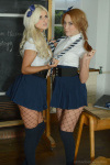Naughty Lucy Anne And Courtney Getting Naked From Sexy Matching Outfits - Picture 4