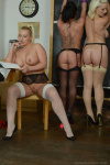 Miss Cox Forces Billie And Mercedes To Strip Off Their Slutty Uniforms - Picture 15