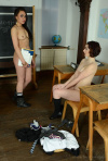 Ali And Victoria Strip Their Cute Uniforms And Lingerie - Picture 15