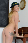 Lucy Anne Getting Naked In The Classroom - Picture 15