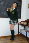 Lucy Anne Getting Naked In The Classroom - Picture 1