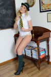 Lucy Anne Getting Naked In The Classroom - Picture 8
