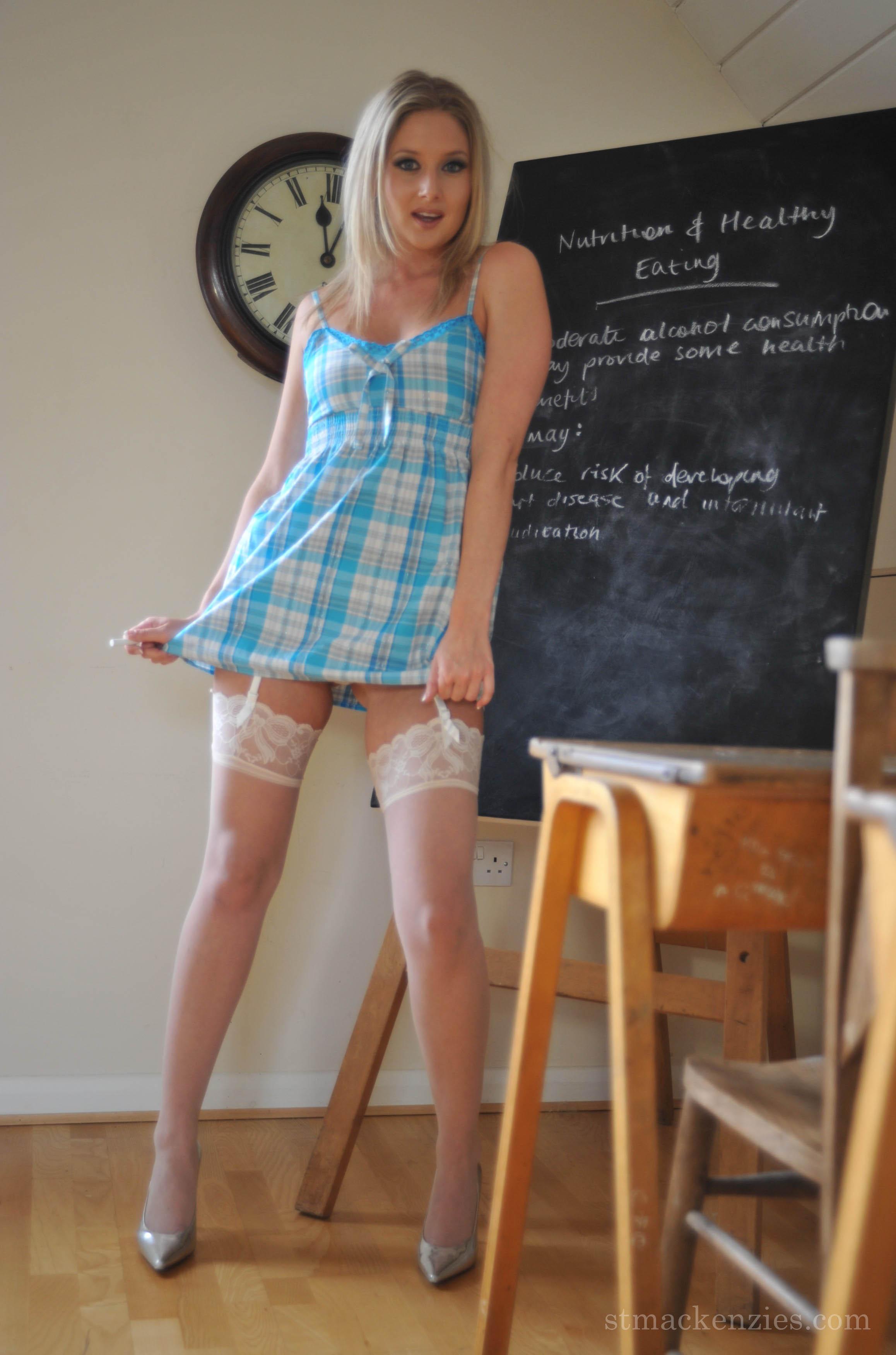 Miss Klass, a teacher at St Mackenzies